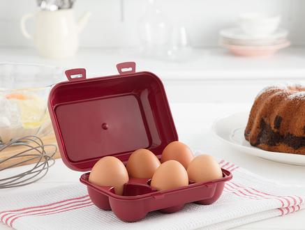Quotidien 6'lı Yumurta Saklama Kabı - Carmen Kırmızı