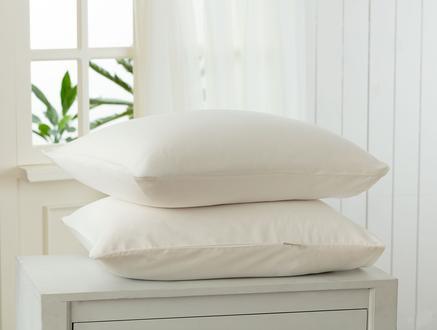 Stella Saten Yastık Kılıfı Seti - Beyaz