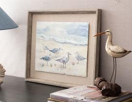 Mouette Kuş Figürü Tablo