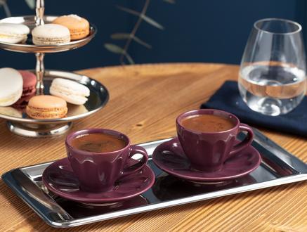 Leeroy 2'li Kahve Fincan Takımı - Mürdüm