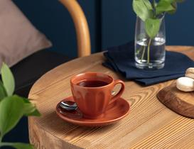 Leeroy 2'li Çay Fincan Takımı - Terra Cotta