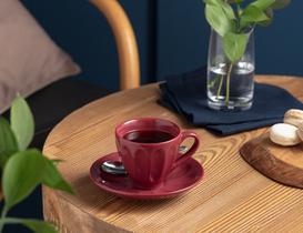 Leeroy 2'li Çay Fincan Takımı - Carmen Kırmızı
