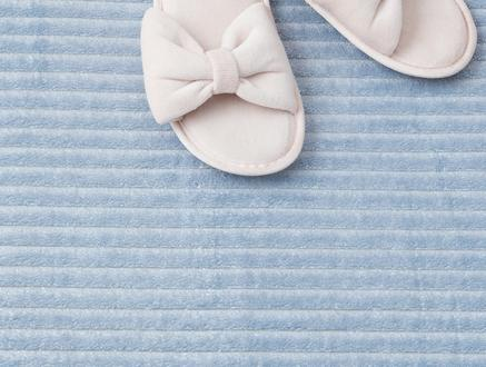 Shiny Flanel Banyo Paspası - Mavi