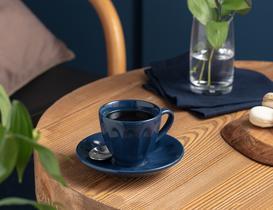 Leeroy 2'li Çay Fincan Takımı - Indigo