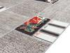 L'amour Dijital Baskılı Halı - Gri - 200x300 cm