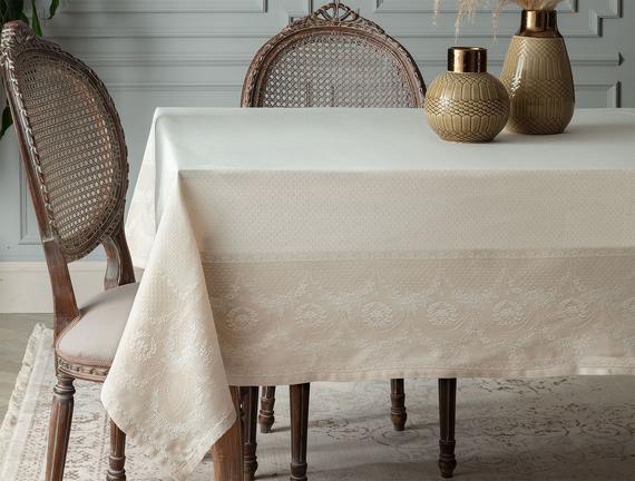 Orient  Masa Örtüsü - Bej - 160x230 cm