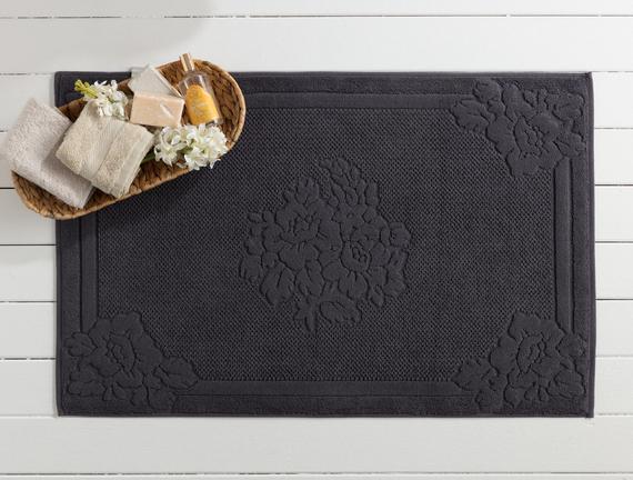 Olive Ayak Havlusu - Antrasit - 60x90 cm