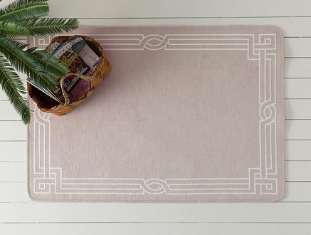 Egebella Çift Taraflı Şönil Kilim - Mürdüm / Beyaz - 80x120 cm