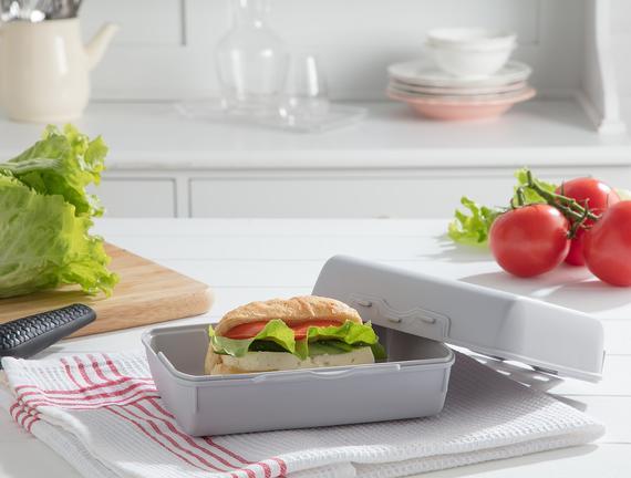Yvonna Geniş Lunch Box - Soft Gri