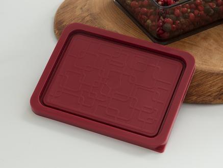 Quotidien Saklama Kabı Set - Carmen Kırmızı