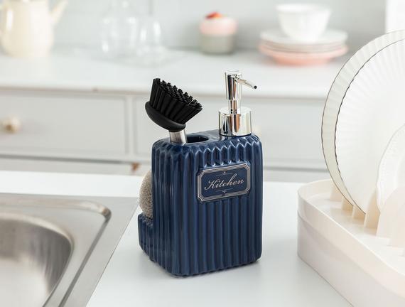 Freman Fırçalı Sıvı Sabunluk - Duman Mavisi