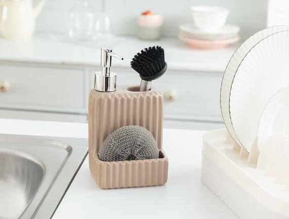 Freman Fırçalı Sıvı Sabunluk - Soft Bej