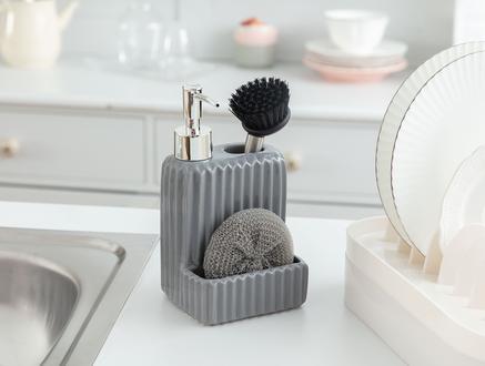 Freman Fırçalı Sıvı Sabunluk - Antrasit
