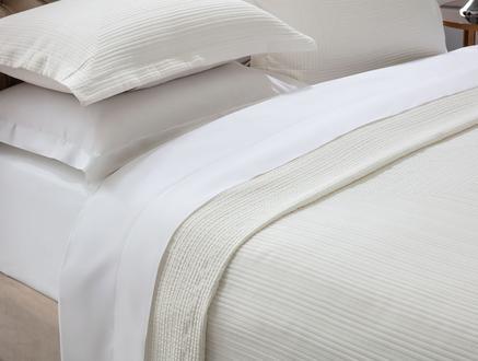 Drury Tek Kişilik Yatak Örtüsü - Beyaz