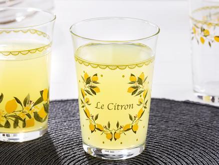 Limon Baskılı 3'lü Su Bardağı Seti