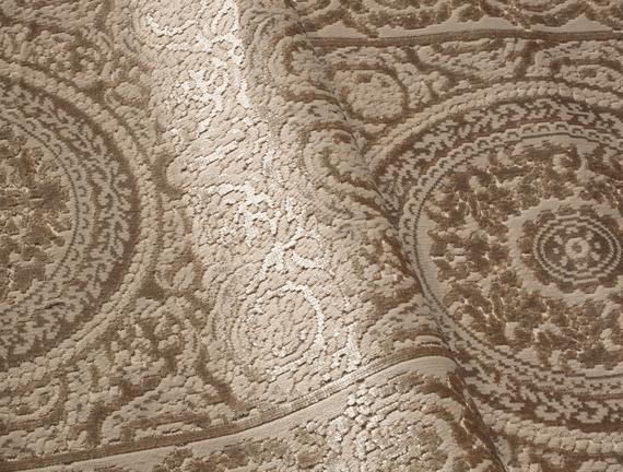 Lotus Shinny Effect Kadife Halı - Ekru 120x180 cm