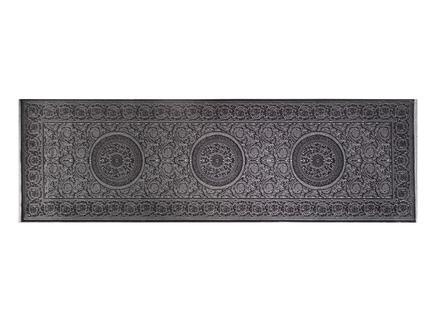 Lotus Shinny Effect Kadife Halı - Antrasit