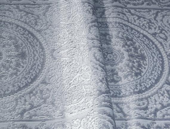 Lotus Shinny Effect Kadife Halı - Açık Mavi  - 80x140 cm