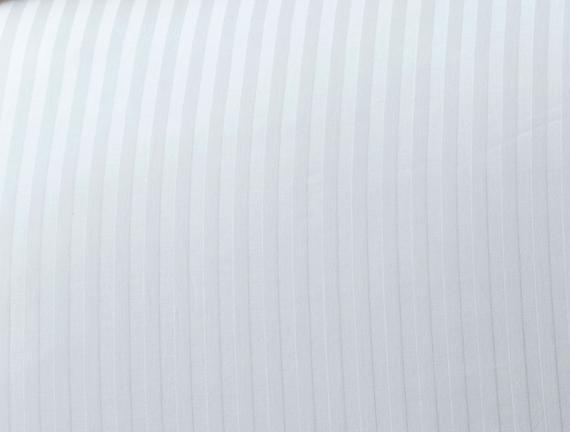 Stella Çift Kişilik Çizgili Saten Nevresim Takımı - Beyaz