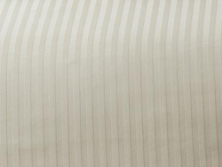 Stella Çift Kişilik Çizgili Saten Nevresim Takımı - Gold