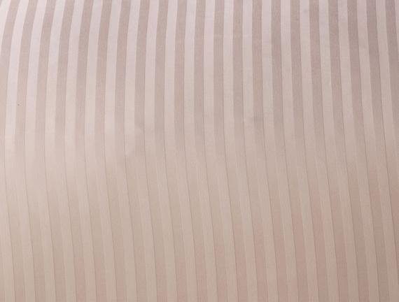 Stella Çift Kişilik Çizgili Saten Nevresim Takımı - Pudra