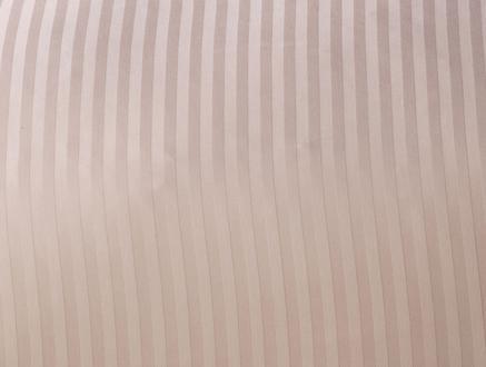 Çizgili Saten Çift Kişilik Nevresim Takımı - Pudra