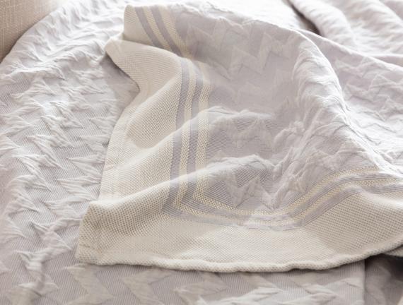 Evelyn Çift Kişilik Yatak Örtüsü - Açık Mürdüm