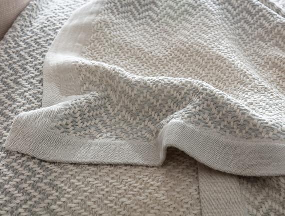 Alaine Çift Kişilik Yatak Örtüsü - Gri