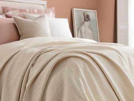 Eugenia King Size Yatak Örtüsü - Ekru