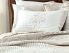 Fayette Çift Kişilik Yatak Örtüsü - Bej / Beyaz