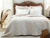 Fayette King Size Yatak Örtüsü - Bej / Beyaz