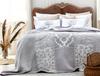 Fayette Çift Kişilik Yatak Örtüsü - Mürdüm / Beyaz