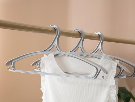 Leroux 3Lü Elbise Askısı - Soft Gri