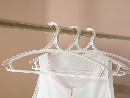 Leroux 3Lü Elbise Askısı - Soft Ekru