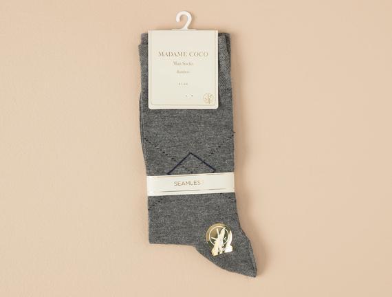 Arles Erkek Soket Çorap - Gri