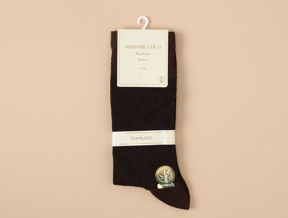 Patrice Erkek Soket Çorap - Kahverengi