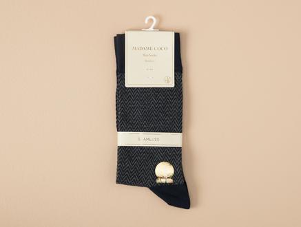 Charante Bambu Erkek Soket Çorap - Lacivert