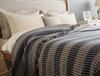 Pansy Tek Kişilik Yatak Örtüsü - Ekru / Lacivert