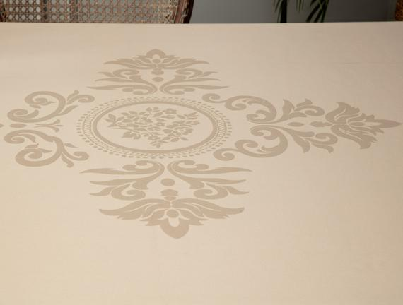 Jeudi Masa Örtüsü - Bej - 160x160 cm