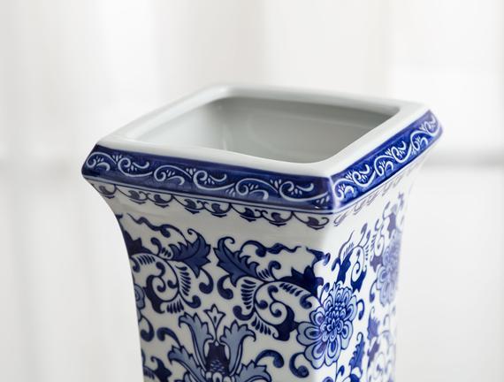 Saint-Étienne Bleu Blanc Ayaklı Dekoratif Obje