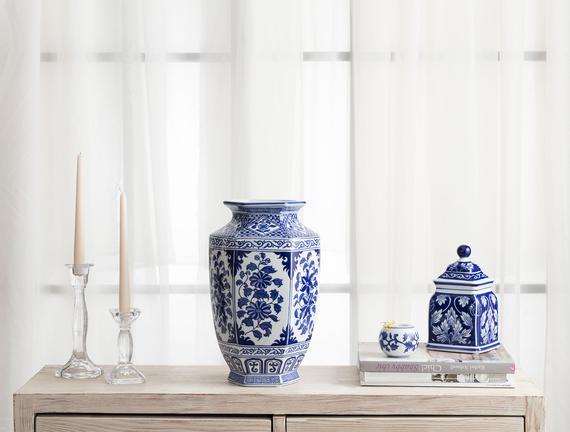 Versay Bleu Blanc Vazo