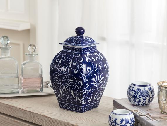 Dijon Bleu Blanc Dekoratif Obje