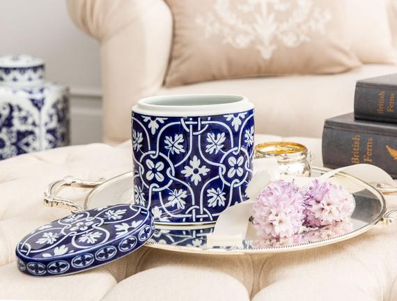 Strazburg Bleu Blanc Dekoratif Obje