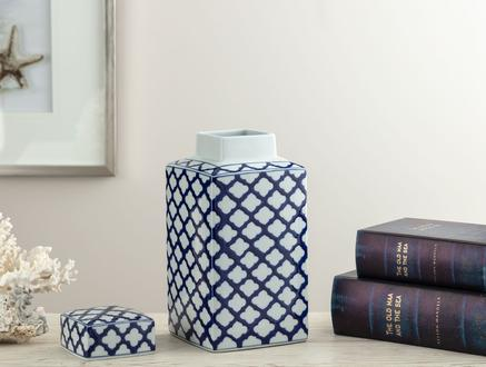Créteil Bleu Blanc Dekoratif Obje