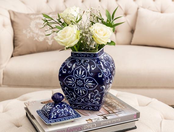 Saint-Paul Bleu Blanc Dekoratif Obje