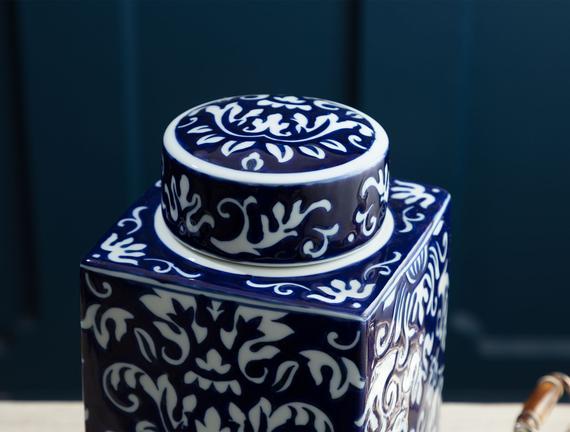 Poitiers Bleu Blanc Dekoratif Obje