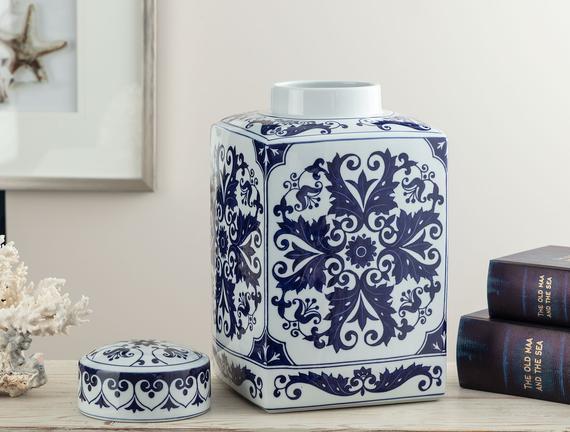 Villeneuve d'Ascq Bleu Blanc Dekoratif Obje