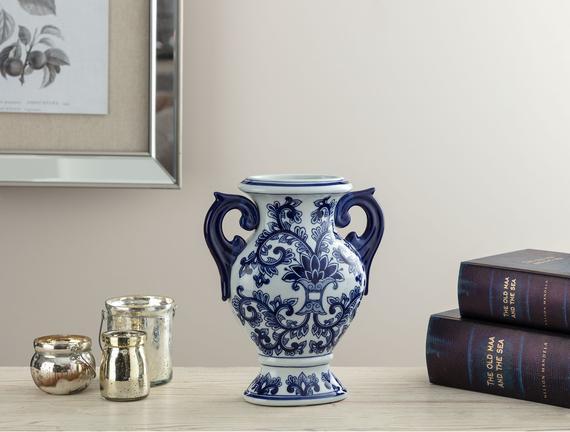 Lille Bleu Blanc Vazo