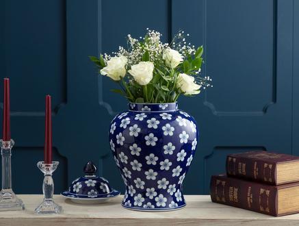 Troyes Bleu Blanc Dekoratif Obje