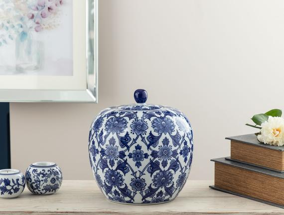Mérignac Bleu Blanc Dekoratif Obje